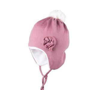 Căciulă Pure Pure lână merinos - cashmere rose