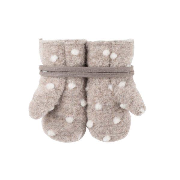 Mănuși cu șnur Pure Pure fleece lână merinos - Kaschmir