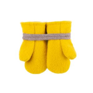 Mănuși Pure Pure fleece lână merinos – lemon curry
