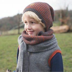 Fular Pure Pure Barbati-Copii lâna merinos si mătase – Schiefer