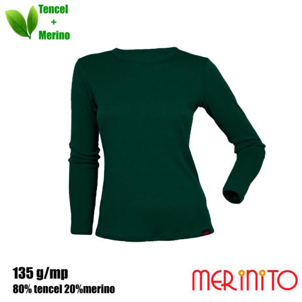 Bluză femei Merinito 80% tencel și 20% lână merinos – Ivy Green