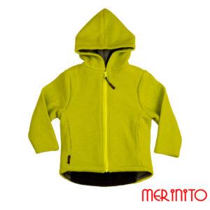 Jachetă femei Merinito lână organică boiled wool – Chartreuse