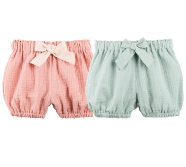 Pantaloni scurți Pure Pure muselină - Coral Peach
