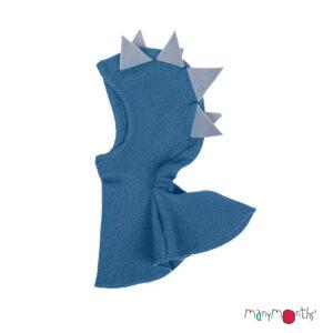 Cagulă ManyMonths Dino lână merinos - Cosmos Blue