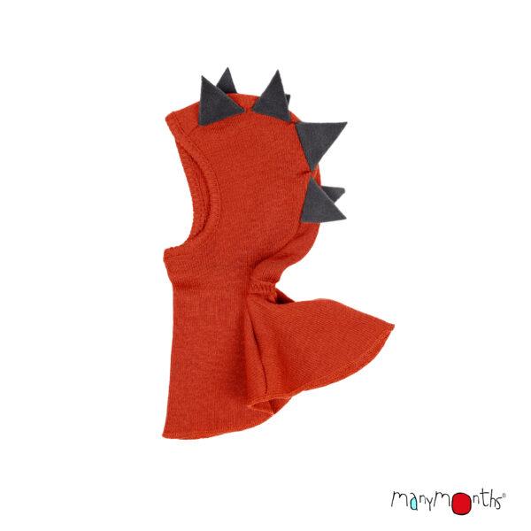 Cagulă ManyMonths Dino lână merinos - Rooibos Red