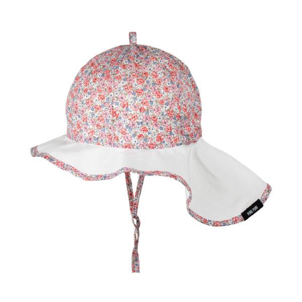 Pălărie Pure Pure ajustabilă bumbac organic - Strawberry Cream