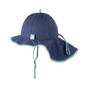 Pălărie ajustabilă Pure Pure Light bumbac organic - Jeans Blue