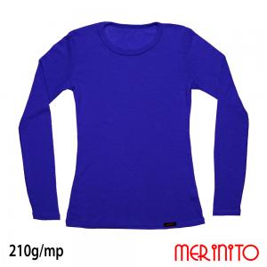 D084_LE - Bluză femei Merinito 80% tencel și 20% lână merinos Endles Blue