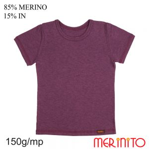 Tricou copii Merinito 85% lână merinos si 15% in - Prune