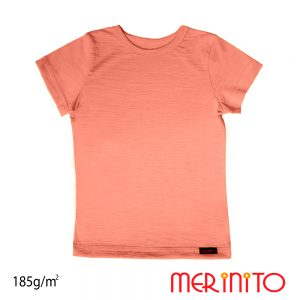 Tricou copii Merinito lână merinos - Peach